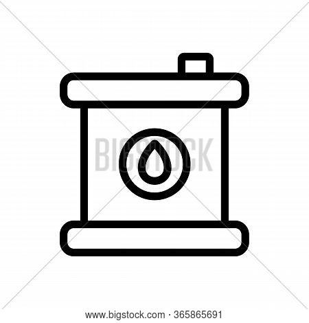 Chemical Grease In Can Icon Vector. Chemical Grease In Can Sign. Isolated Contour Symbol Illustratio