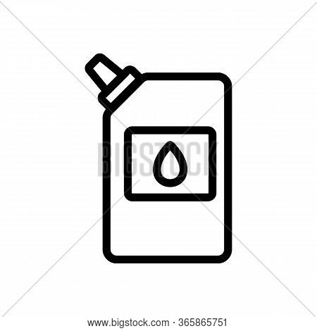Packaged Lubricant Icon Vector. Packaged Lubricant Sign. Isolated Contour Symbol Illustration