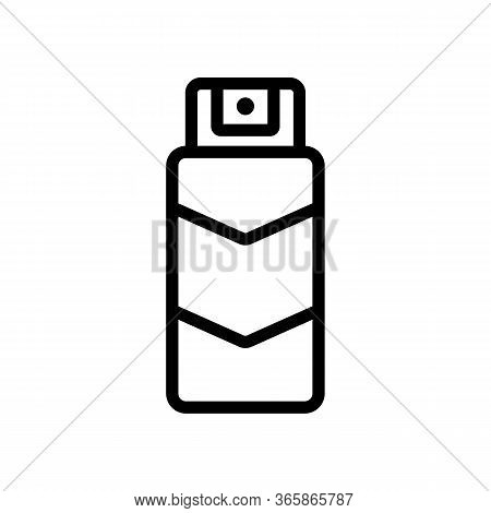 Spray Lubricant Icon Vector. Spray Lubricant Sign. Isolated Contour Symbol Illustration