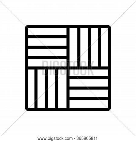 Vertical Horizontal Design Linoleum Icon Vector. Vertical Horizontal Design Linoleum Sign. Isolated