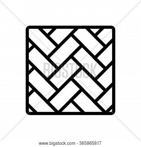 Sample Linoleum Icon Vector. Sample Linoleum Sign. Isolated Contour Symbol Illustration