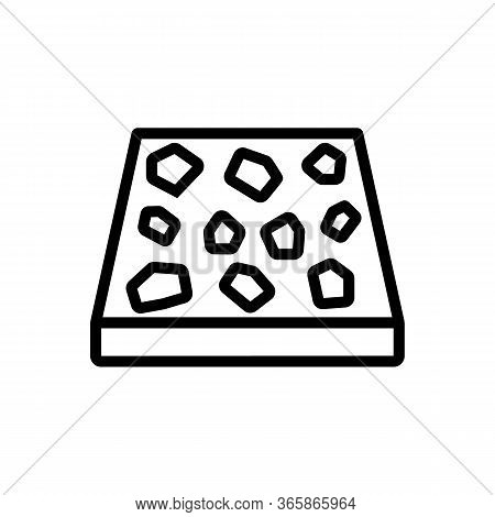 Piece Of Tile With Pattern Icon Vector. Piece Of Tile With Pattern Sign. Isolated Contour Symbol Ill