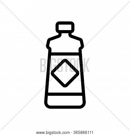 Gel For Washing Dishes Icon Vector. Gel For Washing Dishes Sign. Isolated Contour Symbol Illustratio