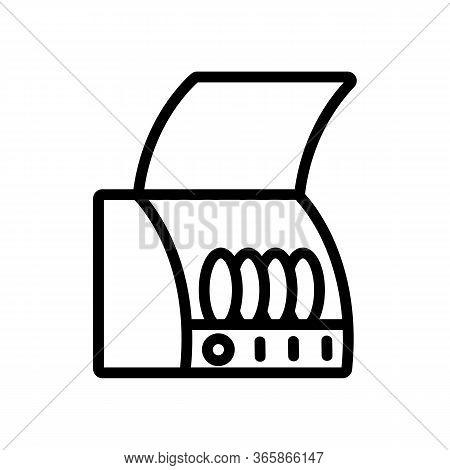 Draining Board Icon Vector. Draining Board Sign. Isolated Contour Symbol Illustration
