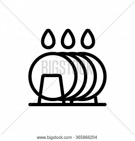 Arrival Of Soap Gel On Plates Icon Vector. Arrival Of Soap Gel On Plates Sign. Isolated Contour Symb