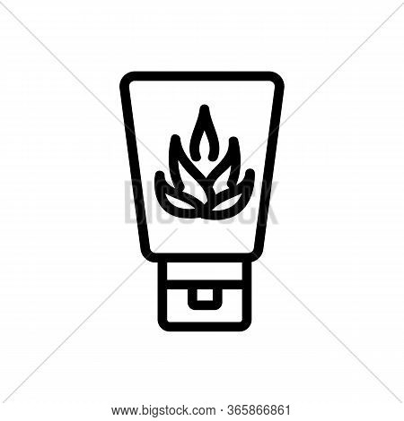 Agave Hand Cream Icon Vector. Agave Hand Cream Sign. Isolated Contour Symbol Illustration