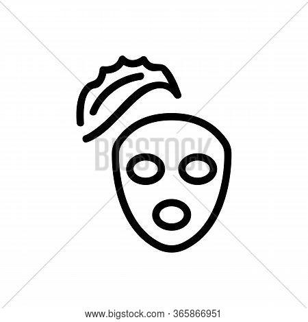 Aloe Vera Nourishing Face Mask Icon Vector. Aloe Vera Nourishing Face Mask Sign. Isolated Contour Sy