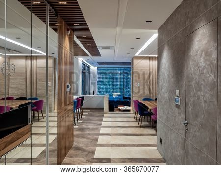 Luxury apartment and final materials decoration