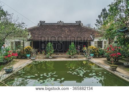 Traditional Vietnamese Home. Buddhist Temple Traditional Vietnamese Decor. Hue, Vietnam - March 12,