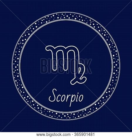 Scorpio Zodiac Sign Isolated Icon. Symbol Of Eagle, Phoenix And Scorpius. Astrological Sign Used For
