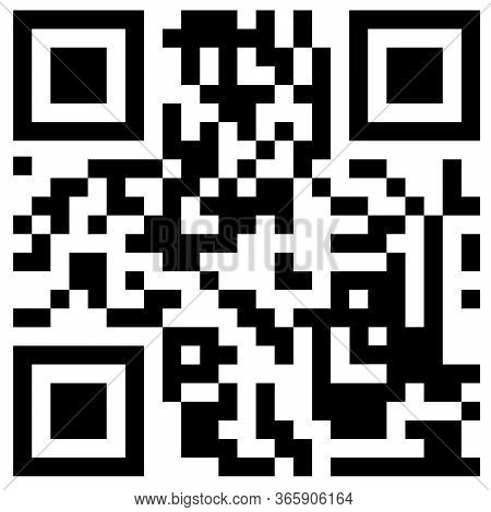 Qr Code For Scanning Smartphones On A White Background. Qr Code Scan Information Icon. Barcodes Isol