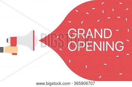 Grand Opening Flyer, Marketing Or Banner Background Template Marketing Business Concept With Megapho