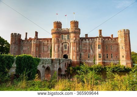 Herstmonceux, East Sussex, England. Brick Herstmonceux Castle In England (east Sussex) 15Th Century.