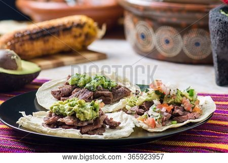 Tijuana Grilled Beef Tacos, Mexican Carne Asada Tacos