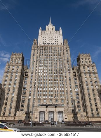 The Main Building Of Ministry Of Foreign Affairs Is One Of The Famous Seven Skyscrapers, Built In St