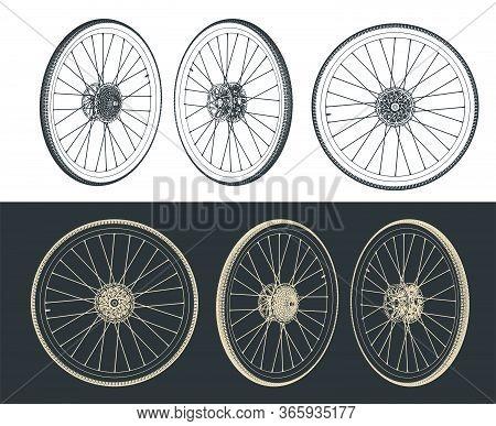 Road Bike Wheel Drawings