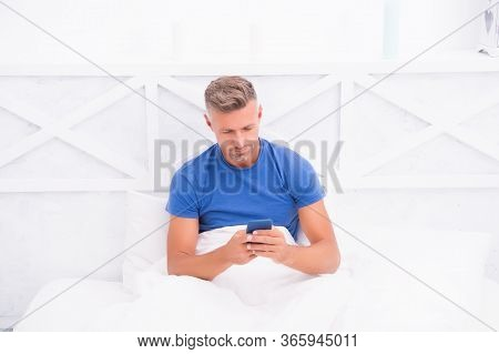 Cellular Communication. Communication Technology. Modern Life. Self Isolation And Quarantine. Mature