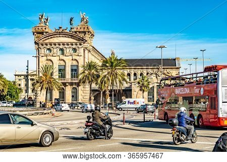 Barcelona, Spain - November 07 2018: Aduana Building - Tax Collectors Administration Agency Office (