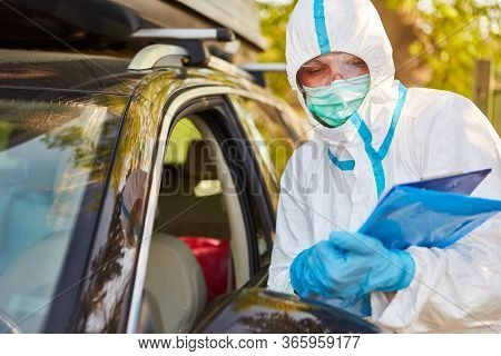 Before visiting a nursing home, drivers must register in the visit list for contact tracking in the case of the coronavirus pandemic