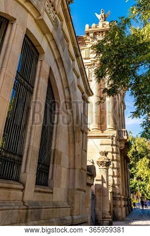 Barcelona, Spain. The Aduana Building - Tax Collectors Administration Agency Office Building (agenci