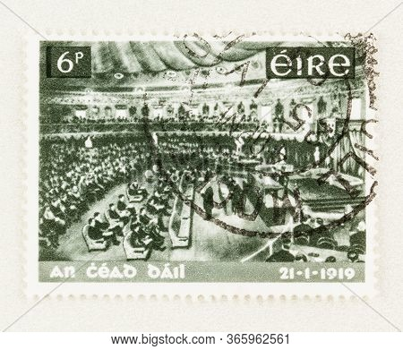 Seattle Washington - May 11, 2020: Eire Stamp Commemorating 50th Anniversary Of The First National P