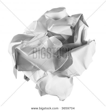 The Crumpled Sheet Of Paper