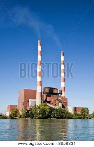 Fossil Fuel Coal Burning Electrical Power Plant poster