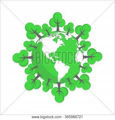 Green Earth. Earth Environment Icon. Earth Day Vector. Earth Day Icon Vector. Earth Day Logo. Earth