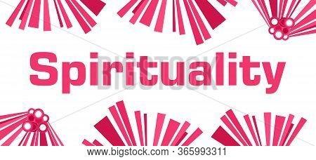 Spirituality Text Written Over Pink Horizontal Background.