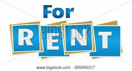 For Rent Text Written Over Blue Background.