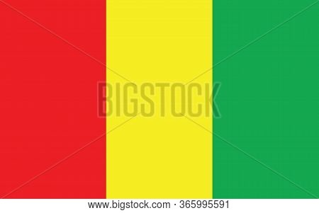 Guinea Flag Vector Graphic. Rectangle Guinean Flag Illustration. Guinea Country Flag Is A Symbol Of
