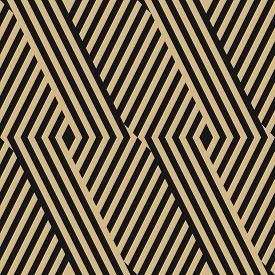 Golden Geometric Lines Seamless Pattern. Modern Vector Texture With Diagonal Stripes, Broken Lines,