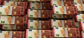 Money Finance Business Euro Banknotes Background 3D Rendering