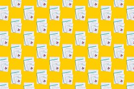 Seamless Pattern With Notepads On A Yellow Background. Back To School Concept. Composition With Scho