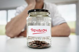 Retirement saving and pension planning concept for small or decreasing fund value