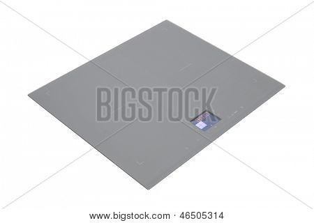 Grey glass induction hob isolated on white with clipping path