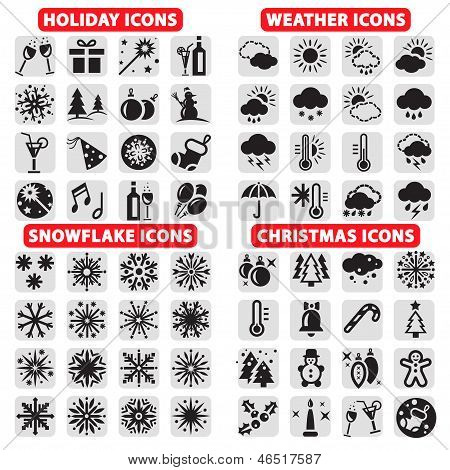 big set of vector icons