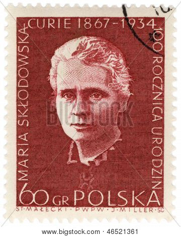 Portrait Of A Polish Scientist Marie Curie