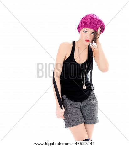 unsure and upset young beauty woman