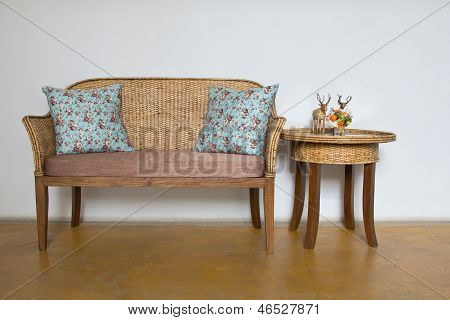 Wood And Wicker Furniture
