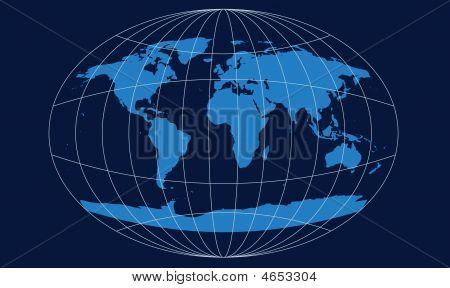 Retro Navy Globe