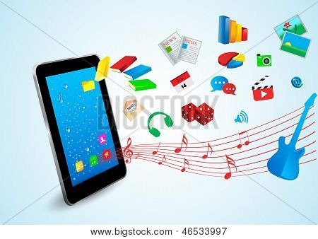 Tablet And Application Icons