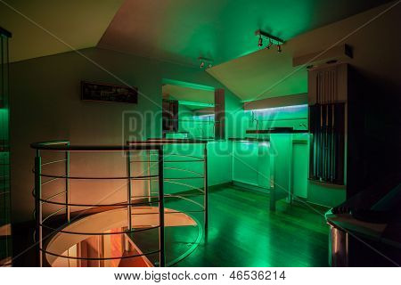 Travertine House - Illuminated Bar