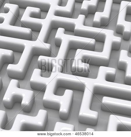 3d maze close up