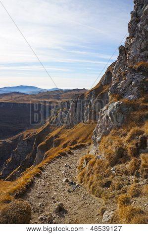 Pathway In Bucegi Mountains Of Romania