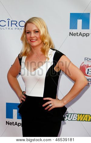 NEW YORK-MAY 30: Actress Melissa Joan Hart attends the 5th annual Tuck's Celebrity Billiards Tournament at Slate NYC on May 30, 2013 in New York City.