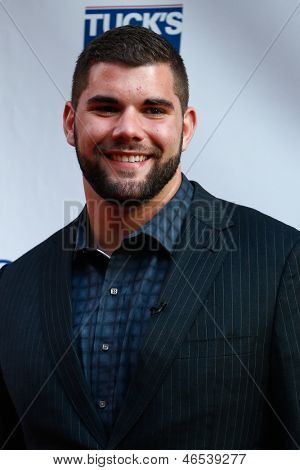 NEW YORK-MAY 30: New York Giants player Justin Pugh attends the 5th annual Tuck's Celebrity Billiards Tournament at Slate NYC on May 30, 2013 in New York City.