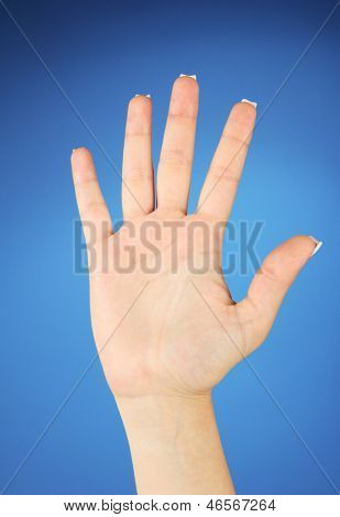 Finger Spelling the Alphabet in American Sign Language (ASL). Letter Sch
