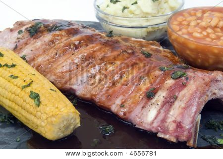 Barbeque Spare Rib Plate