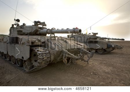 israeli army armored corp tank Merkava Gaza strip poster